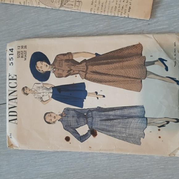 "Vintagec"" Advance"" sewing pattern for suit"